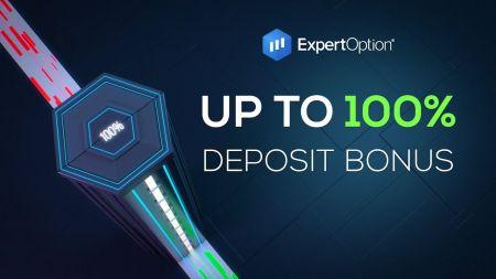 Promosi Selamat Datang ExpertOption - Bonus Deposit 100% Hingga $ 500