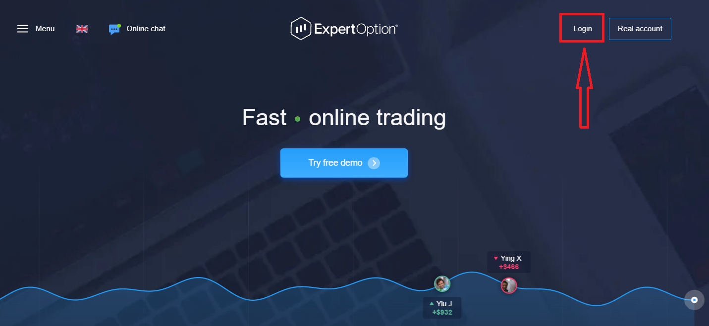 Cara Login dan memulakan Perdagangan Opsyen Binari di ExpertOption