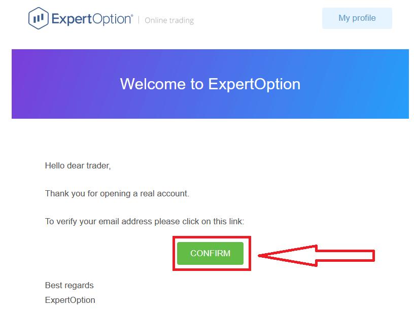 Cara Mengesahkan akaun di ExpertOption